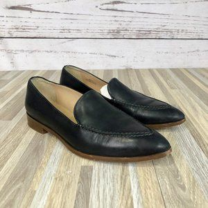 J. Crew Pointed Toe Leather Slip On Flats Size 6.5